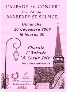 Barberey 2009