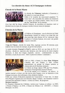 Les chorales de la Marne et Haute-Marne